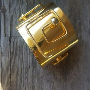 Vintage gold French couture cuff bracelet